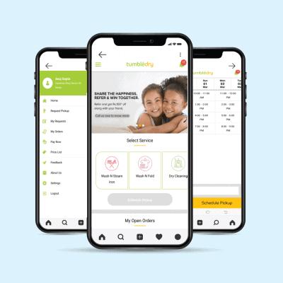 Tumbledry Mobile App
